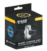 Ram Mount Chrome Short Double Socket Arm RAMMC201ACH